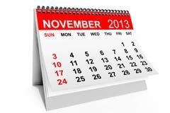 Calendrier en novembre 2013 illustration de vecteur