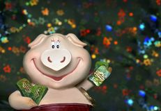 calendrier est de 2007 porcs Photos stock