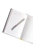 Calendrier et crayon lecteur Images libres de droits
