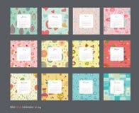 Calendrier floral 2014 Photographie stock libre de droits