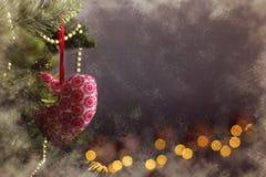 Calendrier givré de décoration de Noël de carte de voeux Photo libre de droits