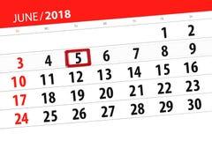 Calendrier, jour, mois, affaires, concept, journal intime, date-butoir, planificateur, vacances d'état, table, illustration de co Illustration de Vecteur