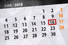 Calendrier, jour, mois, affaires, concept, journal intime, date-butoir, planificateur, vacances d'état, table, illustration de co Photos stock