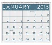 Calendrier 2015 : Mois de janvier illustration libre de droits