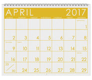 2017 : Calendrier : Mois de jour du ` s d'April With April Fool Image libre de droits