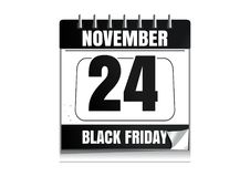 Calendrier mural de Black Friday 2017 Images stock