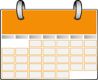 Calendrier orange Photo libre de droits