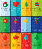 Calendrier plat 2014 Photographie stock