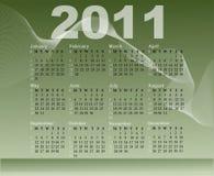 Calendrier pour 2011 Photographie stock libre de droits