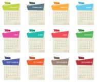 Calendrier pour 2012 Photos stock