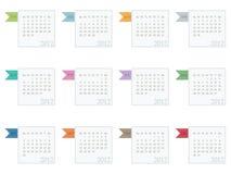 Calendrier pour 2012 Images libres de droits