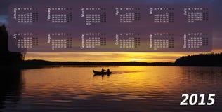 Calendrier pour 2015 Photographie stock