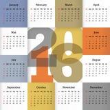 Calendrier pour 2016 Photo libre de droits
