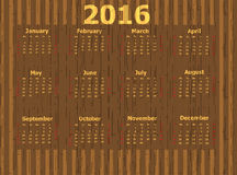 Calendrier pour 2016 Photo stock