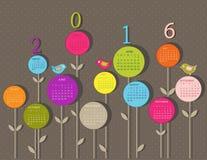 Calendrier pour 2016 Photos stock
