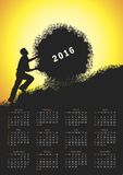 Calendrier pour 2016 Image stock