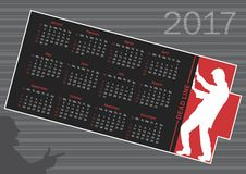 Calendrier pour 2017 illustration stock