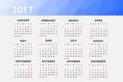 Calendrier pour 2017 illustration libre de droits