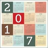 Calendrier pour 2017 Photo stock