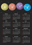 Calendrier pour 2018 Image stock
