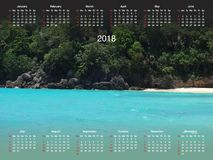 Calendrier pour 2018 Images stock