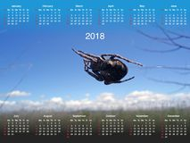 Calendrier pour 2018 Photos stock