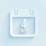 Calendrier pour le Jour de la Déclaration d'Indépendance Photos stock