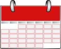 Calendrier rouge Image libre de droits
