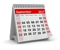 Calendrier - septembre 2017 illustration stock