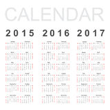 Calendrier simple Image stock