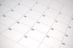 Calendrier simple Images stock