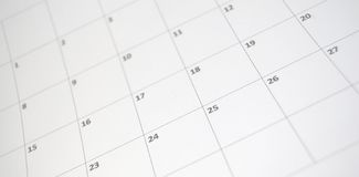 Calendrier simple Photographie stock libre de droits