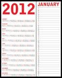 Calendrier spécial pour 2012 Photographie stock