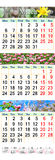 Calendrier triple pendant mars avril et mai 2017 avec des photos Photo stock