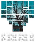 Calendriers de l'arbre des 2018 et de la nature Images stock