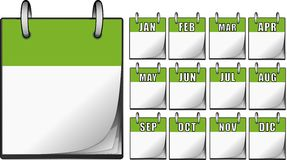 Calendriers verts Image stock