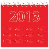 Calendário 2013 do vetor Fotografia de Stock