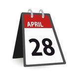 Calendário abril do dia Imagens de Stock Royalty Free