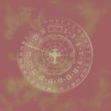 Calendário abstrato do zodíaco. Fotos de Stock Royalty Free