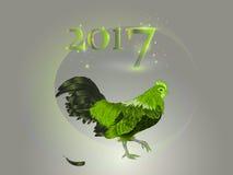 Calendário chinês Ano do galo 2017 Foto de Stock