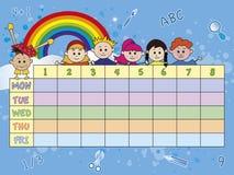 Calendário da escola Fotos de Stock Royalty Free