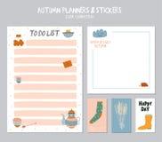 Calendário diário bonito e para fazer o molde da lista Foto de Stock