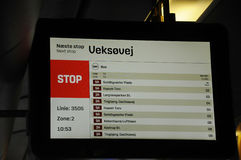 calendário do ônibus Fotografia de Stock Royalty Free