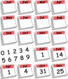 Calendário feito sob encomenda do dia (vermelho) Imagens de Stock Royalty Free