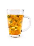 Calendula or marigold cup Royalty Free Stock Photo