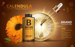 Calendula skin toner ads Royalty Free Stock Photography