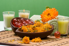 Calendula spa set Royalty Free Stock Photography