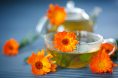 Calendula tea Stock Photos