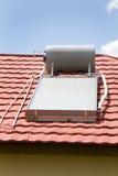 Calentador de agua solar Foto de archivo libre de regalías