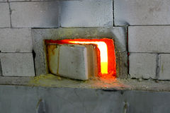 Calentador de la fragua imagen de archivo